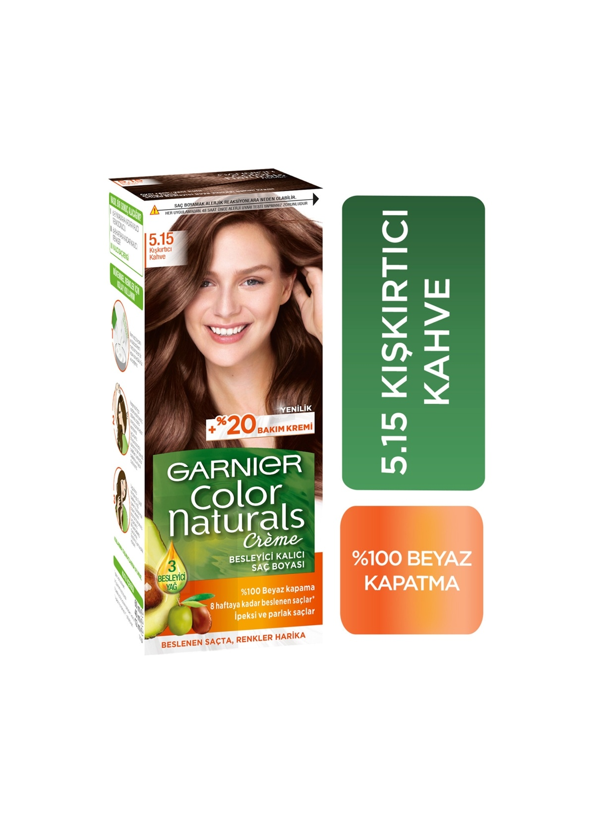 Garnier  Garnıer Color Naturals Saç Boyası 5.15 Kışkırtıcı Kahve Delist